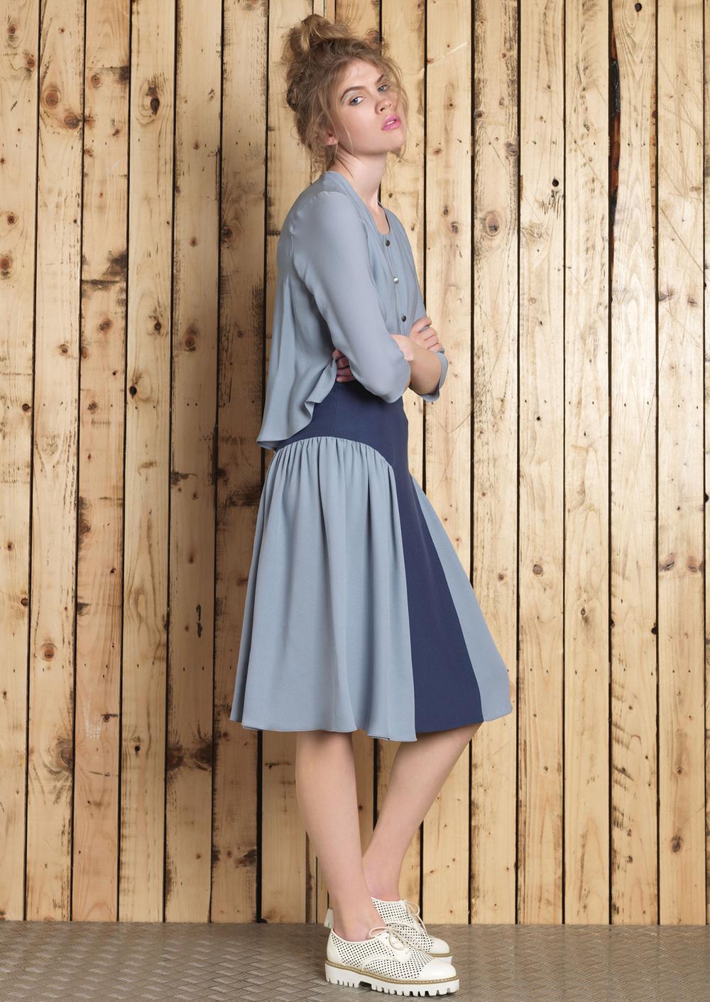 Erin Blouse // Cori 2 Tone Skirt