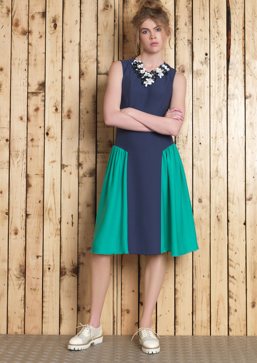 Cori Necklace // Cori 2 Tone Dress