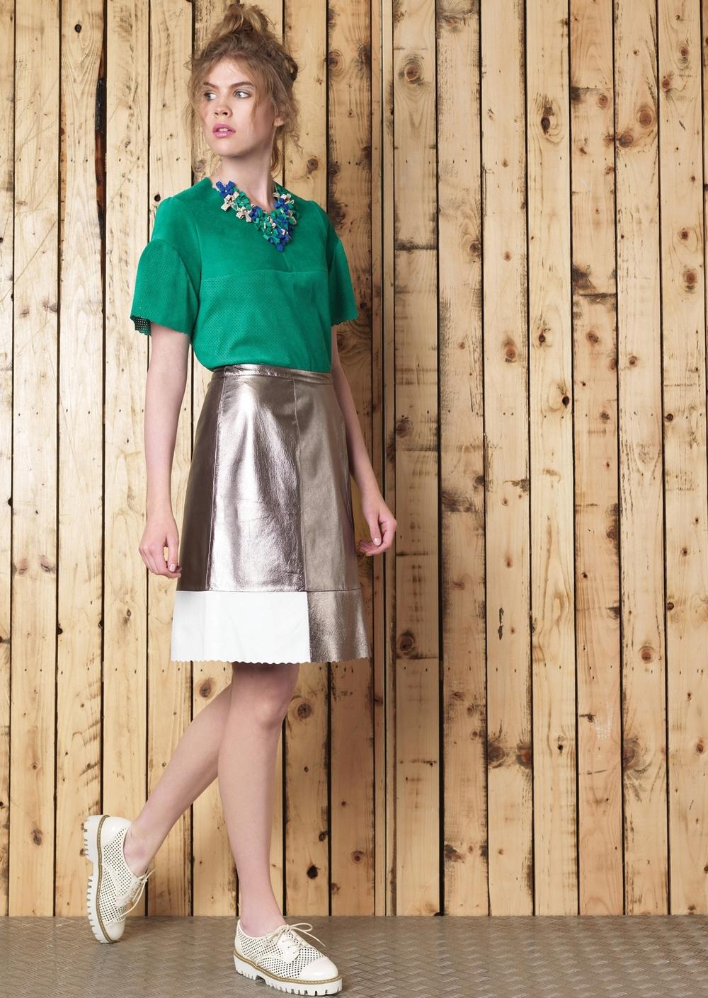 Manley Cori Necklace // Erin Tee // Boxter Skirt