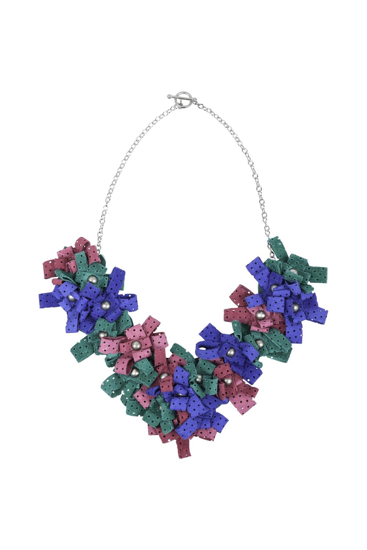 Cori Necklace /// Electric Blue, Bubblegum Pink, Apple