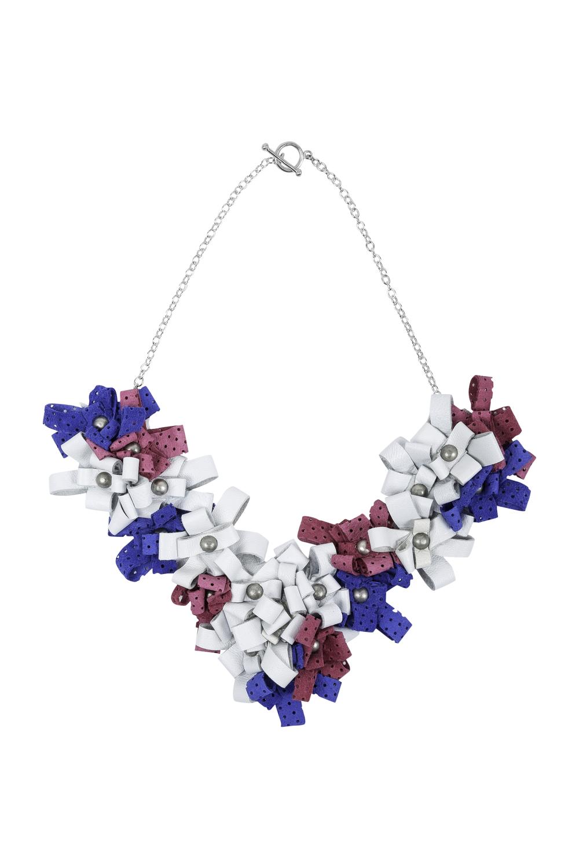 Cori Necklace /// White, Bubblegum Pink, Electric Blue
