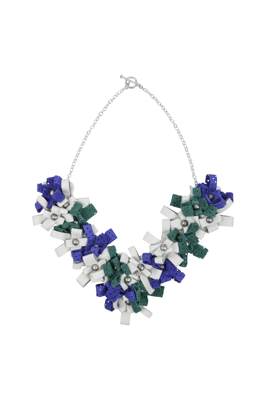 Cori Necklace /// Apple, White, Electric Blue