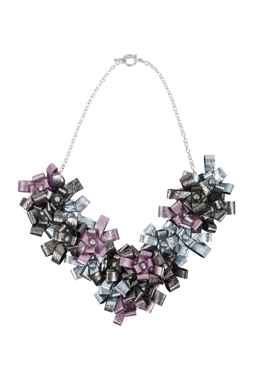 Cori Necklace /// Mint, Bubblegum Pink, Old Silver