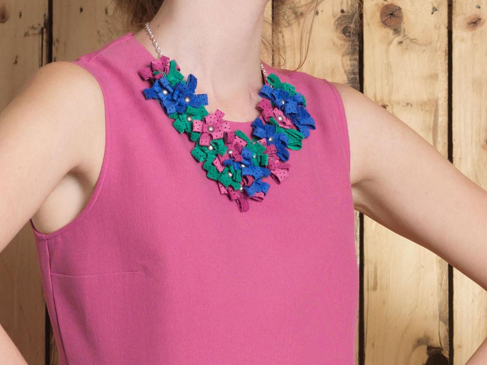 Cori Necklace /// Electric Blue, Apple, Bubblegum Pink