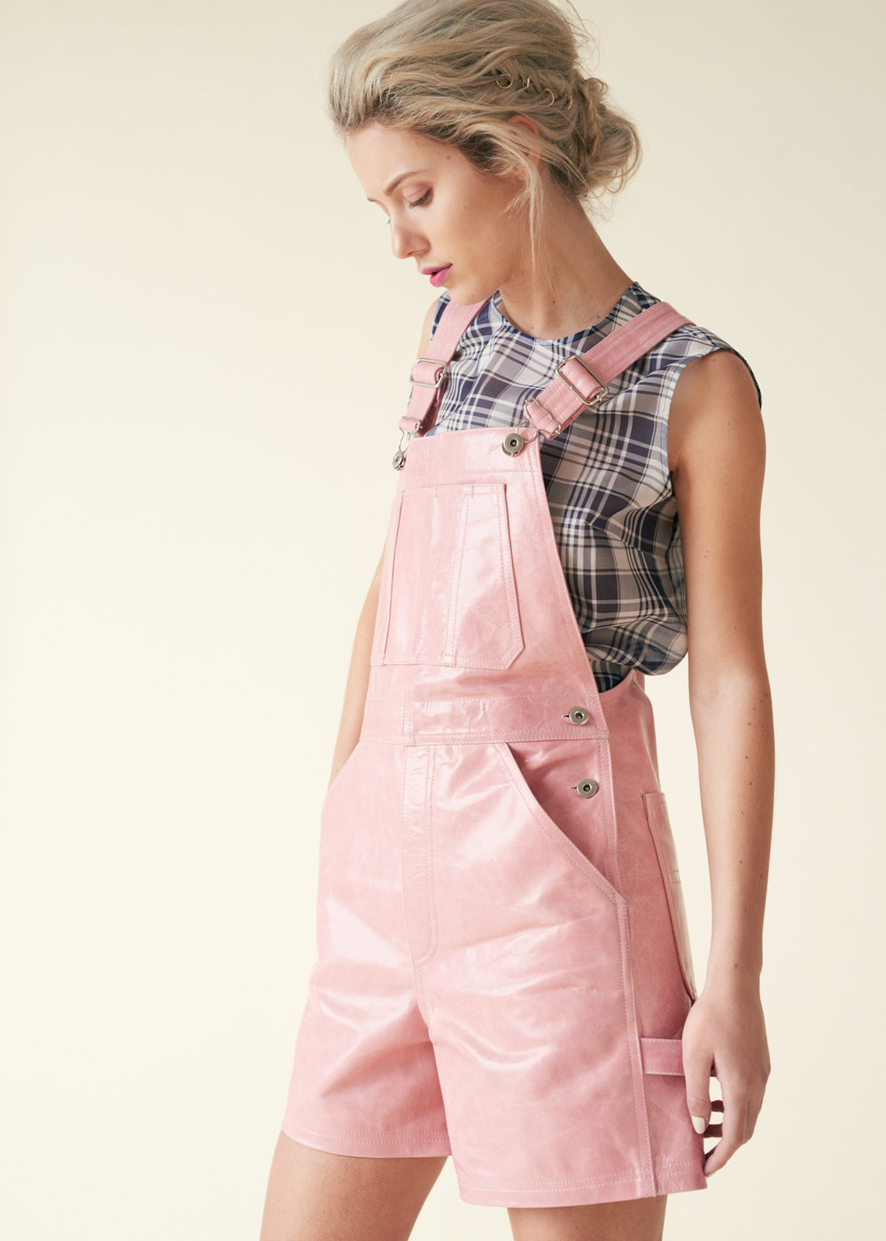 Not all festival looks need to be rock chic, pretty in pink is also a winner. These Parker Dungarees are adorable and teamed with festival candy floss, you're perfectly instagramable!