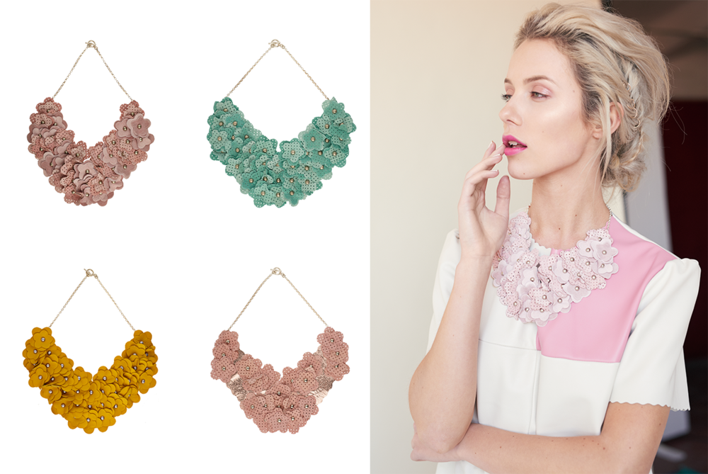 Complete your festival look with bold jewellery. Nothing transforms an outfit like a statement leather studded necklace and so we give you a range of colours to choose from!