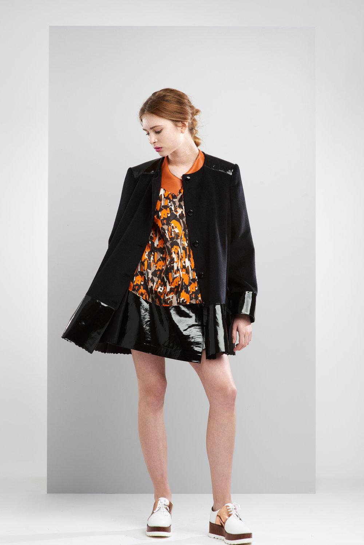 ManleyAW17 - Sadie Coat - Black €390. Sadie Top - Multi €195. Willow Mini Skirt - Black €350 LR.jpg