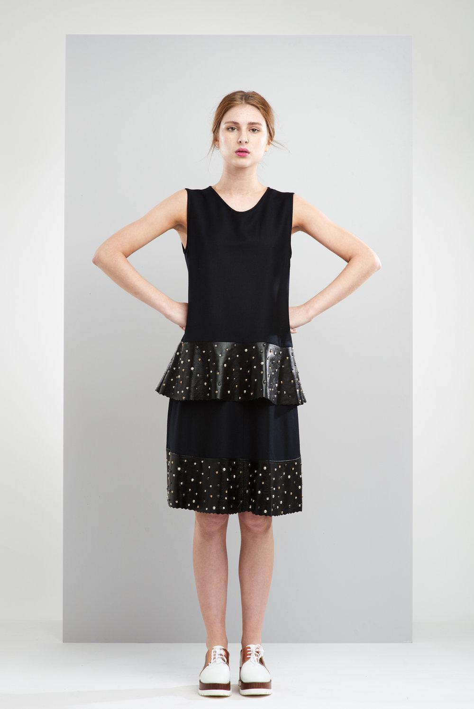ManleyAW17 - Sadie Studded Skirt - Black €250. Sadie Studded Jumper - Black €230 LR.jpg