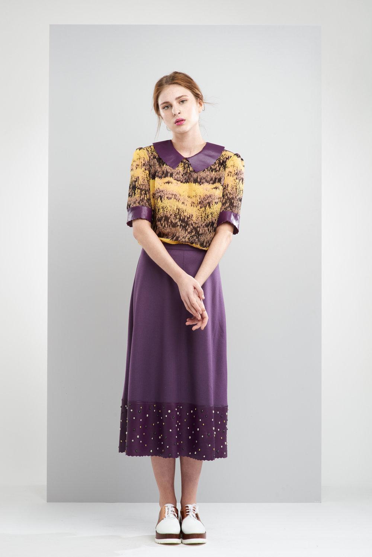 ManleyAW17 - Sadie Top - Multi €195. Sadie Maxi Studded Skirt - Purple €250 LR.jpg