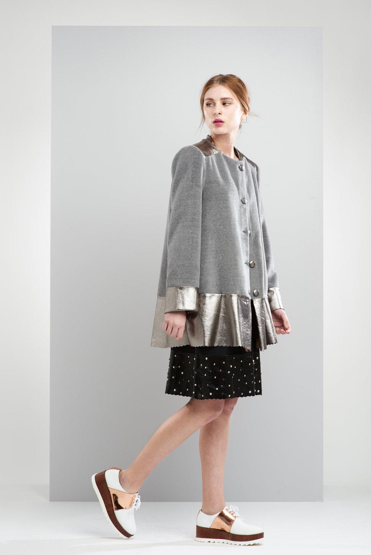 ManleyAW17 - Sadie Coat - Grey €390. Sadie Studded Skirt  - Black €250 LR.jpg