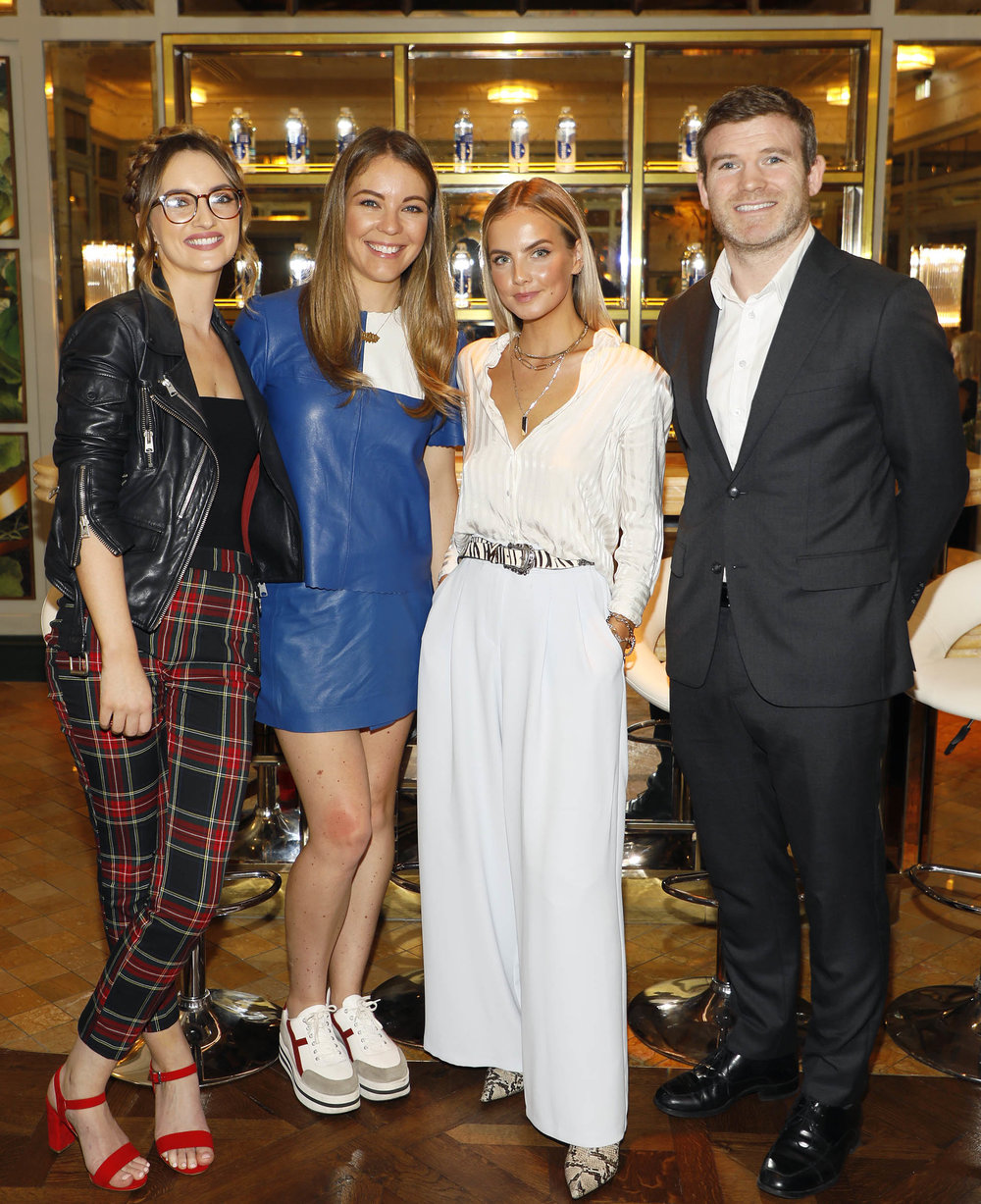 Caroline Foran , Emma Manley, Joanna Cooper and Gordon D'Arcy at the launch of Smartwater which was held at the Ivy .photo Kieran Harnett