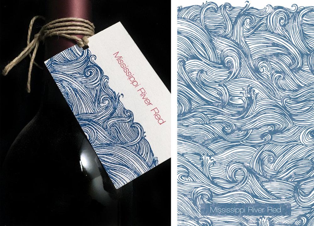 Wine Label Angela Koch Graphic Design