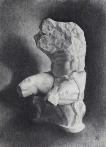 Belvedere Cast Study, Charcoal, 2010.