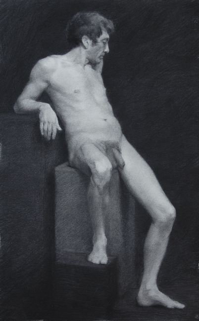 Giovanni, Charcoal, 2012.