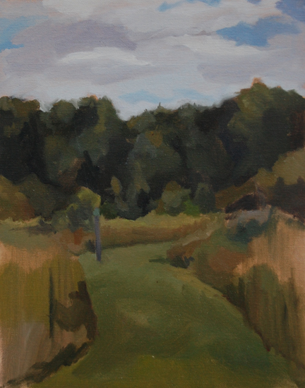 Peach Hill, Oil on Canvas, 2012.