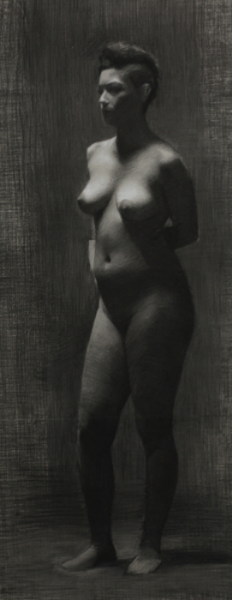 Valeria, Charcoal & White Chalk, 2012