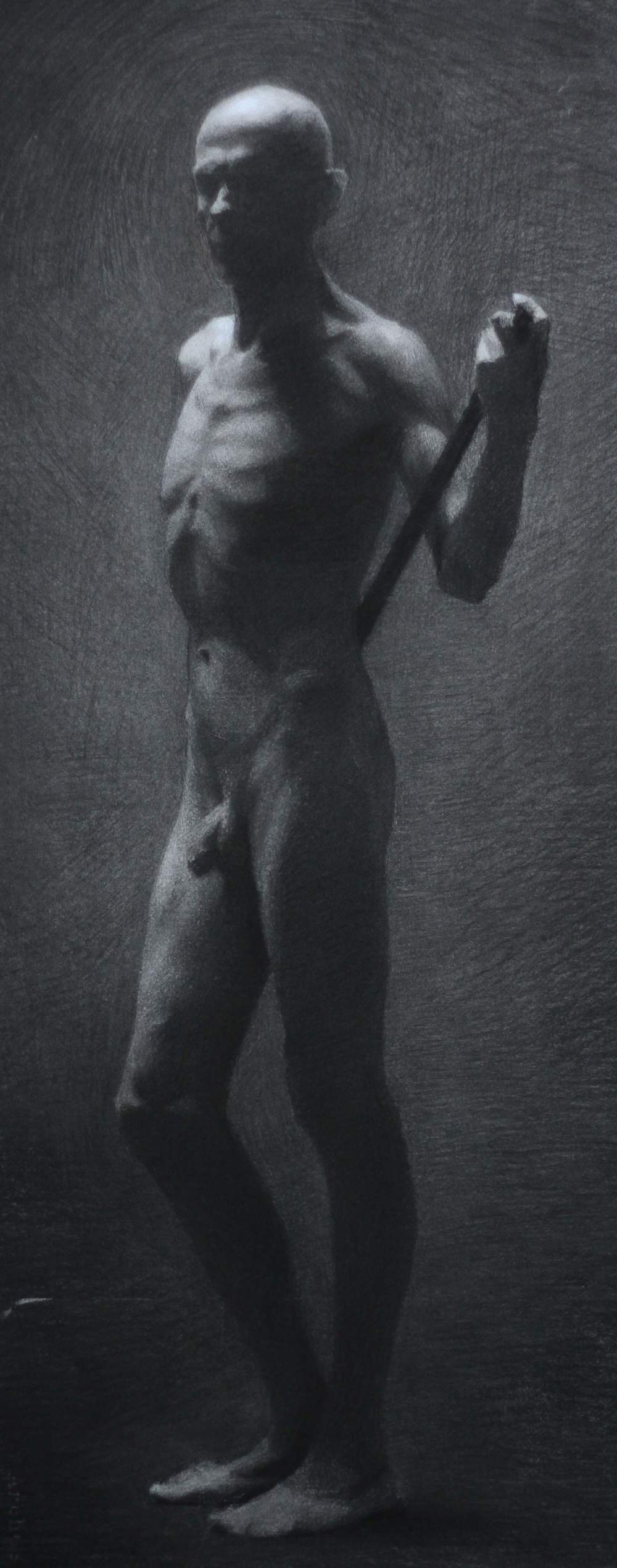 stefano, charcoal & white chalk on paper, 2013