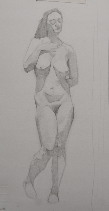 renee, pencil study, 2012