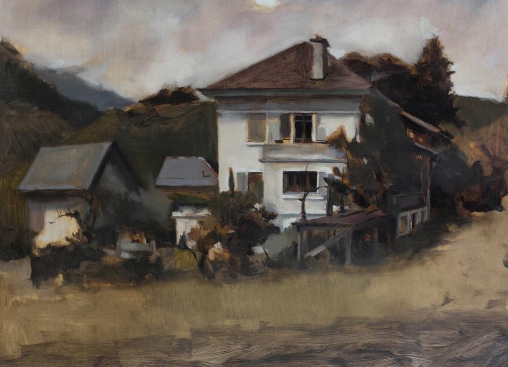 rambling house, oil on linen, 2013