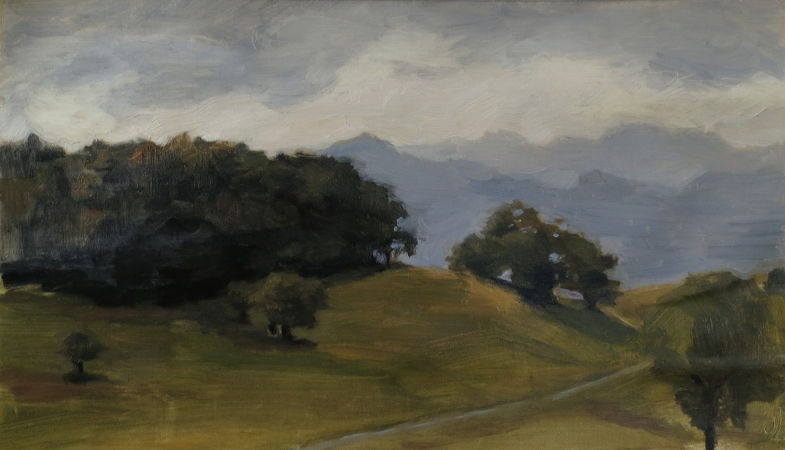 Lavey-Village Valley, Oil on Canvas, 2013.