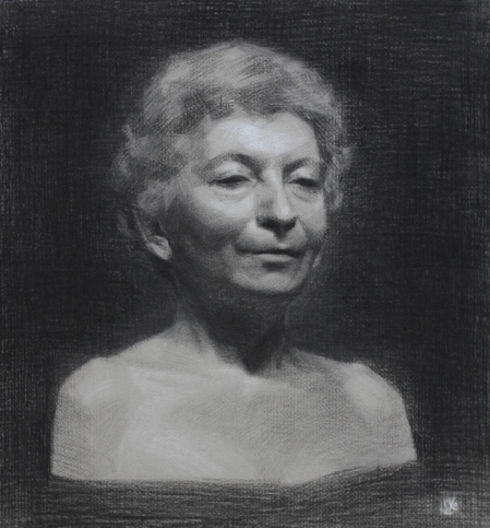 Maria Virginia, Charcoal & White Chalk, 2013