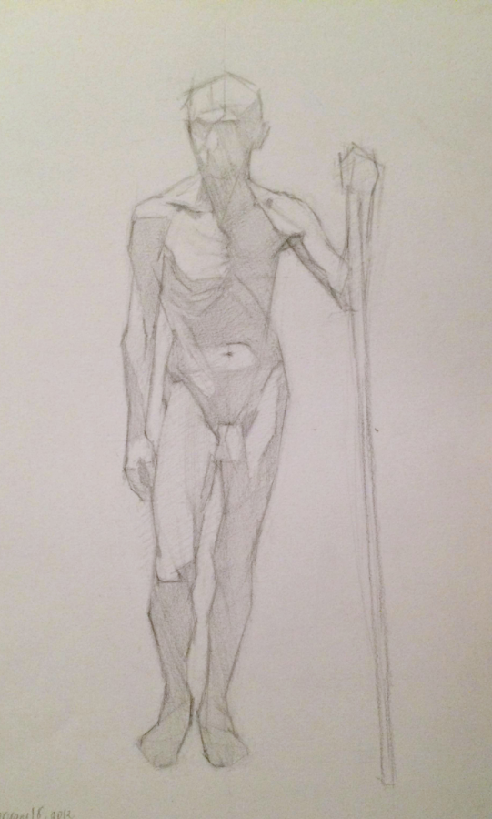 stefano, pencil on paper, 2012