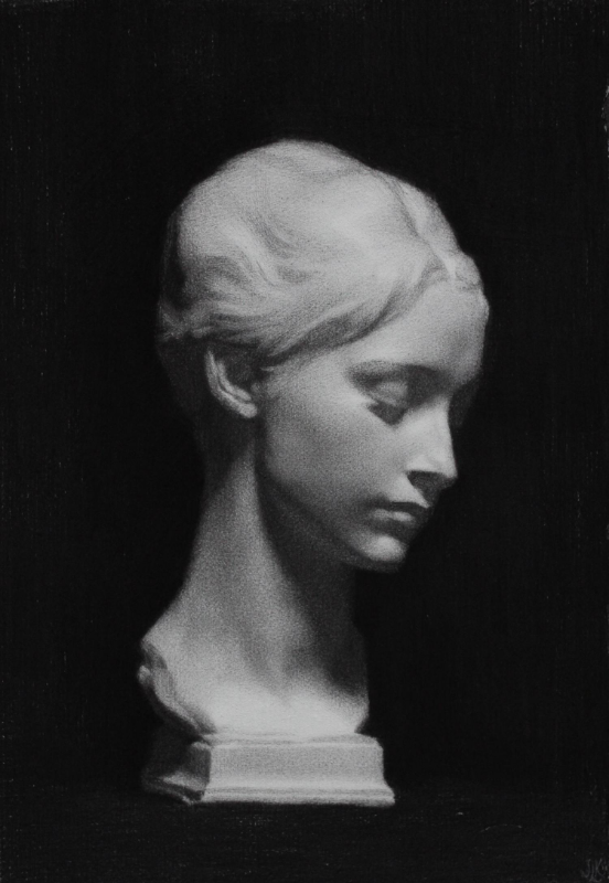 cellini cast, charcoal on paper, 2013