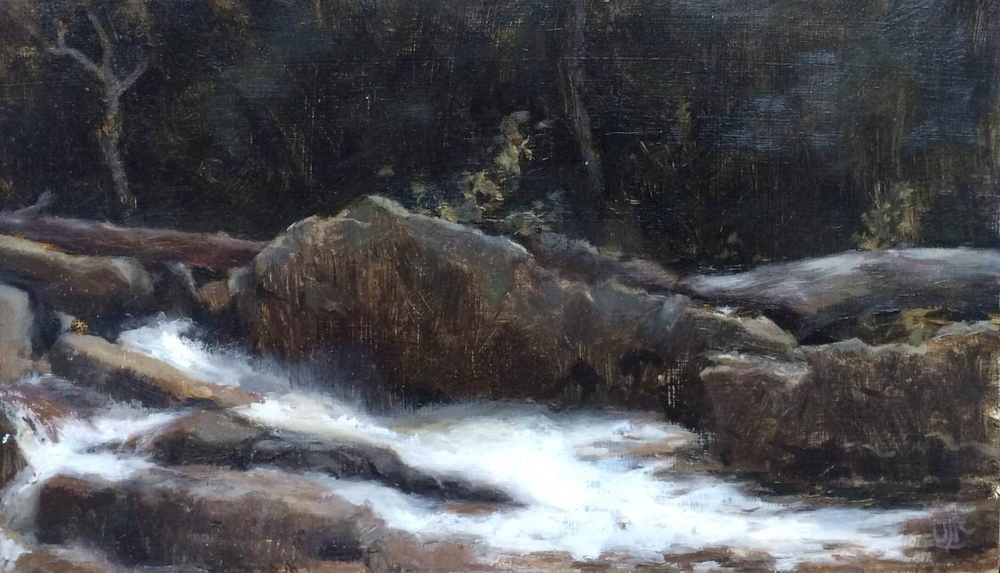jackson falls, oil on wood, 2014