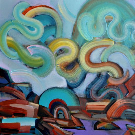"Borealis, 24x24"" acrylic on canvas"