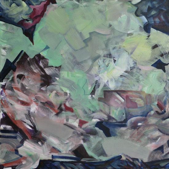 "Bushido, 30x30"" acrylic on canvas"