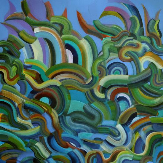 """Donald Duck, 30x30"""" acrylic on canvas"""