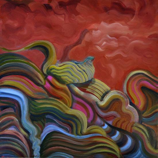 """Giant Steps, 20x20"""" acrylic on canvas"""