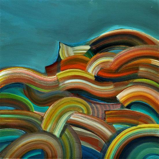 "Hypnotic Hill, 12x12"" acrylic on canvas"