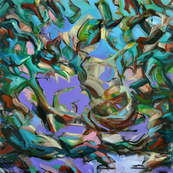 "Nesting, 36x36"" acrylic on canvas"
