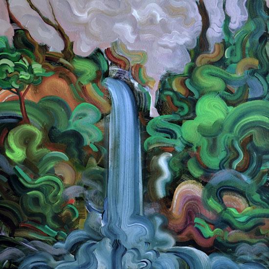 "Serpent Mist, 24x24"" acrylic on canvas"