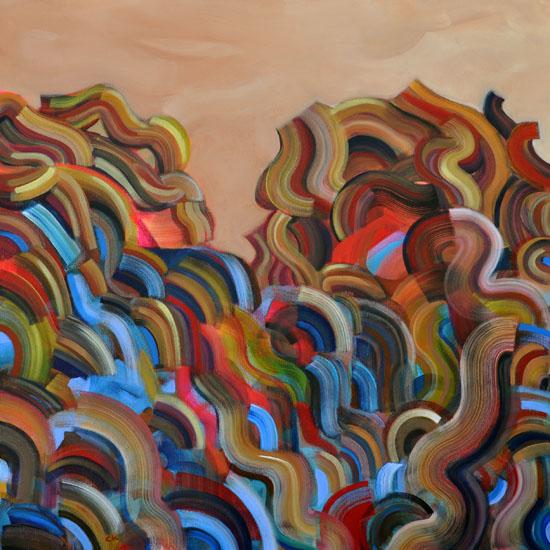 """The Veil, 30x30"""" acrylic on canvas"""