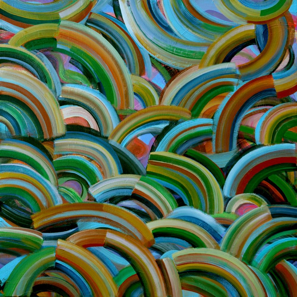 "Red Eye 20x20"" acrylic on canvas"