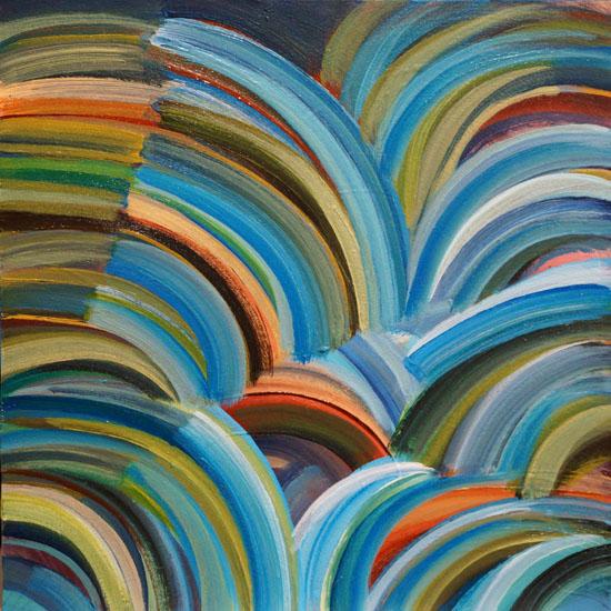 "Meadowlands 8x8"" acrylic on panel"
