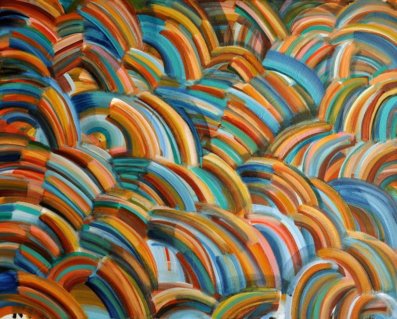 """Exclamatory 20x16"""" acrylic on canvas"""