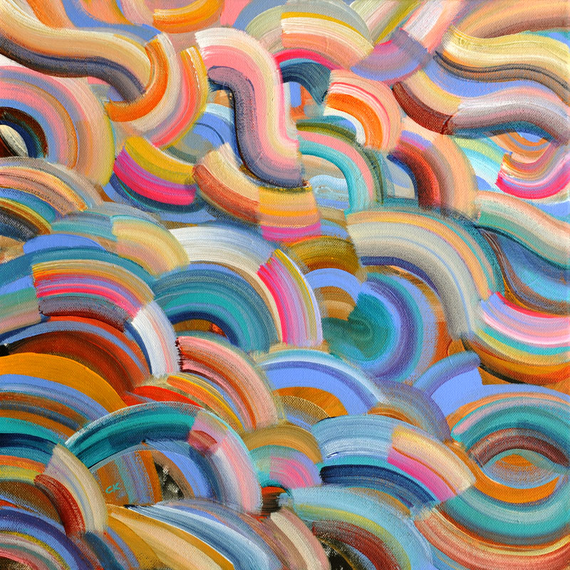 """Maui Wowie 16x16"""" acrylic on canvas"""