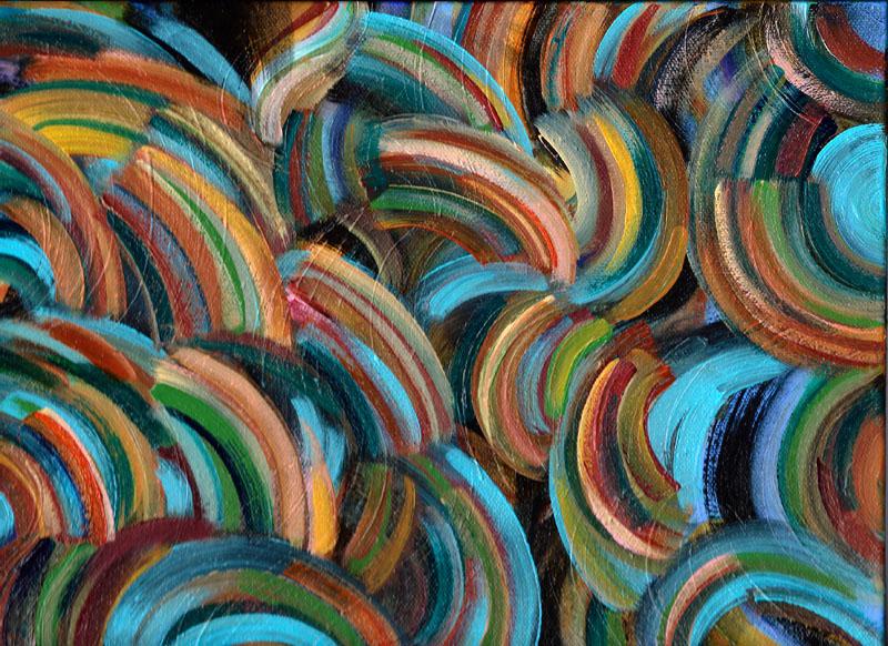 """Pinwheel 12x9"""" acrylic on canvas"""