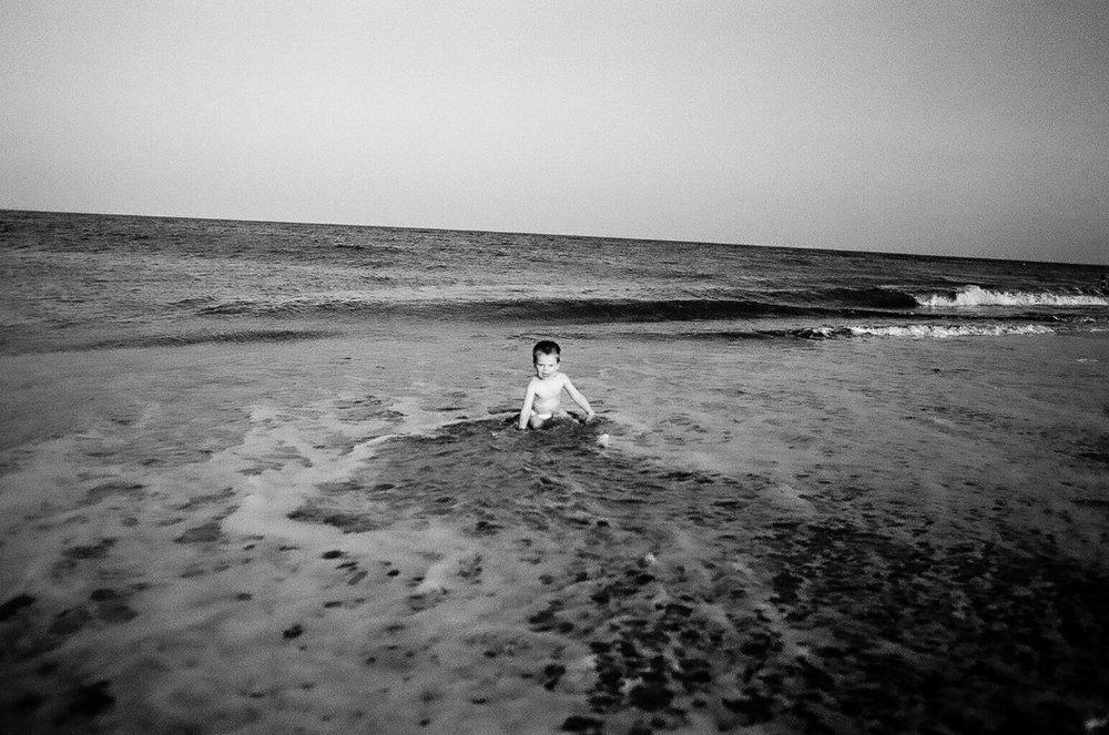 boy at beach /rehoboth beach, delaware /circa 2014