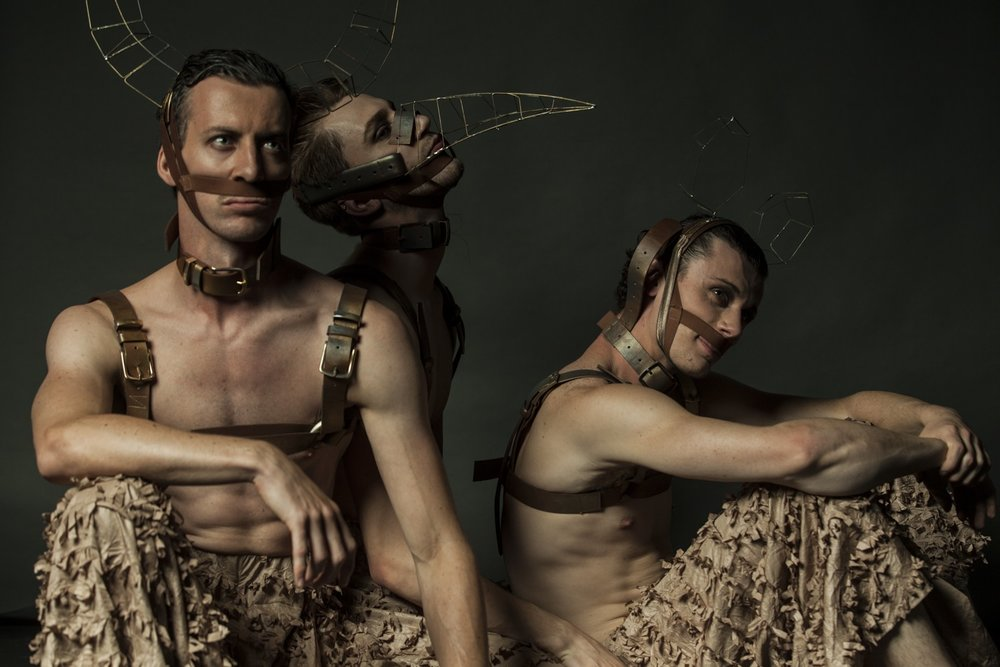 DeNada Dance Theatre - TORO: Beauty and the Bull - Michael Barnes, Jonathon Luke Baker, Nicholas Tredrea. Boneshaker Photography