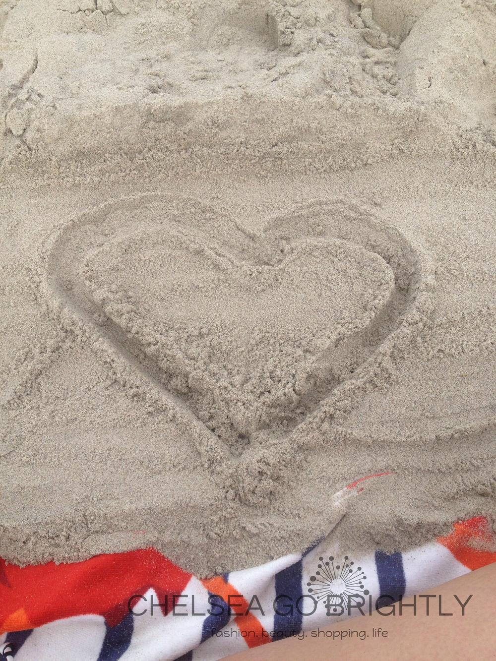 A sandy heart at Fort Tilden Beach
