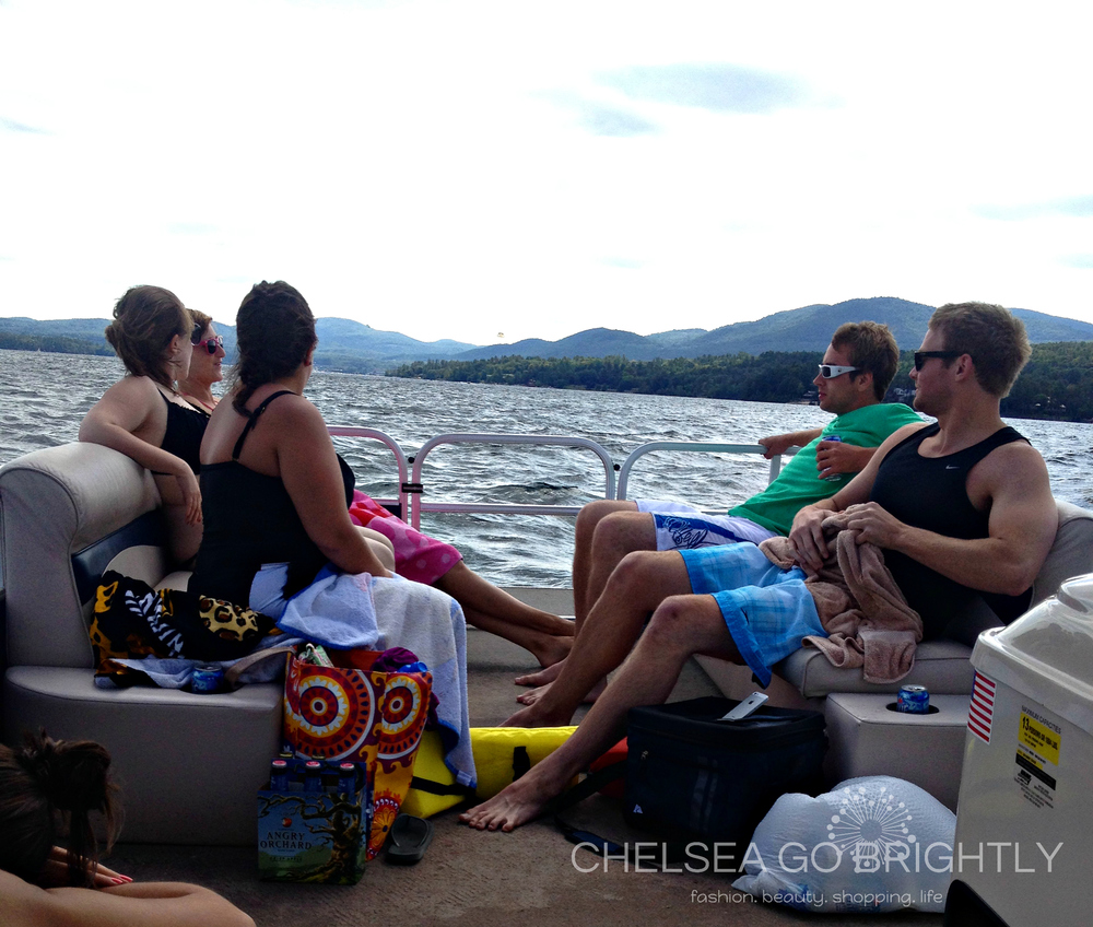 Part of the group on the boat on Lake George
