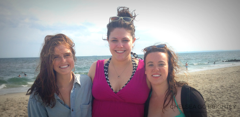 Suzanne, myself, and Katherine at Fort Tilden Beach in New York City