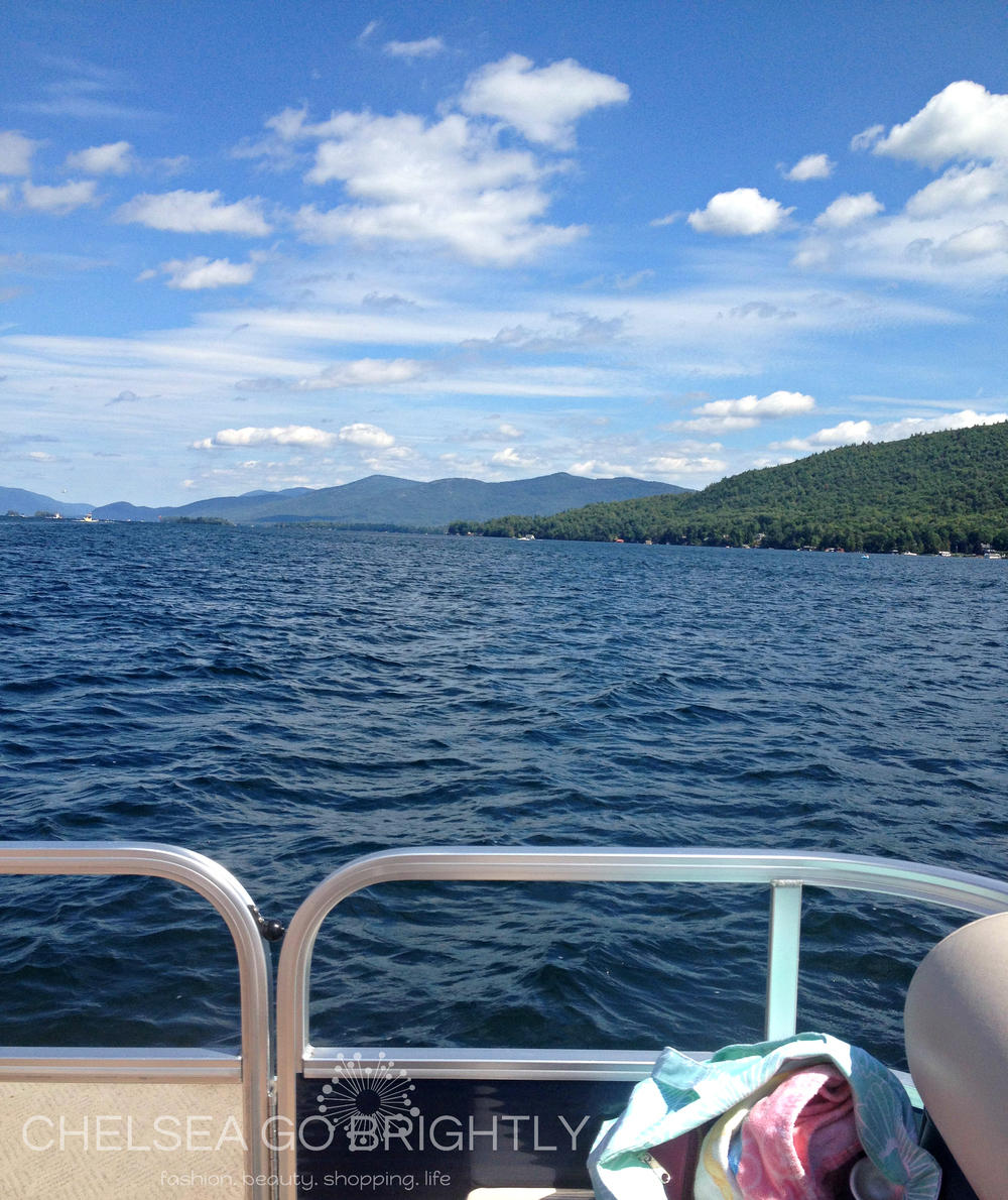 The view from the boat on Lake George