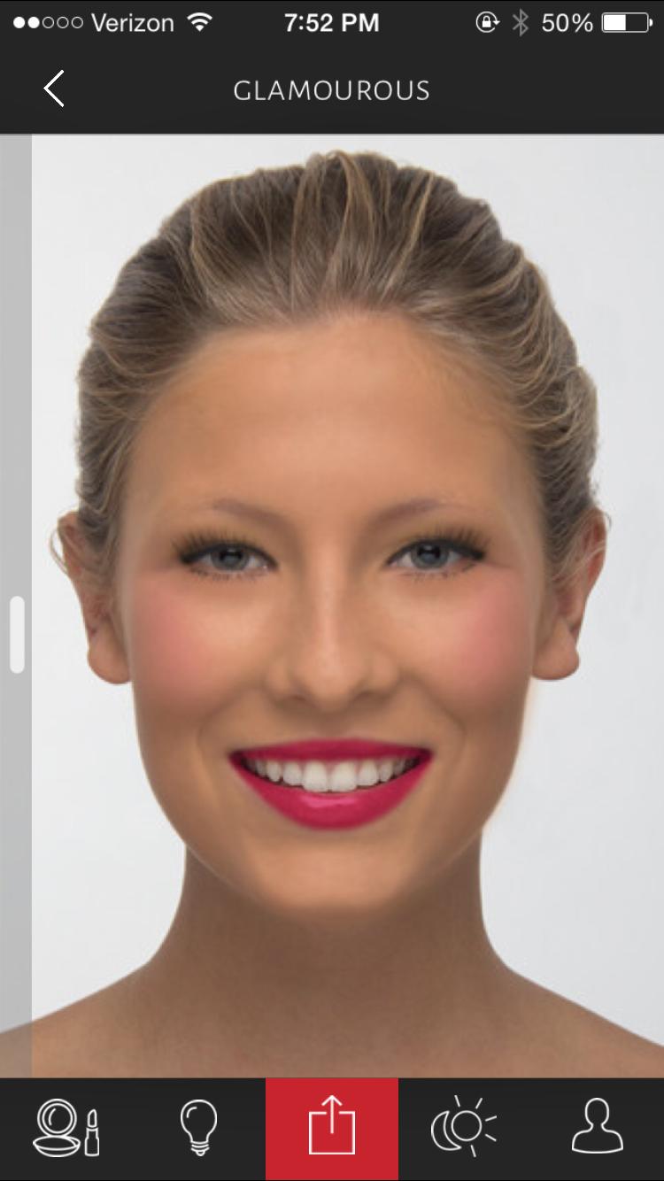 A glamorous makeup look