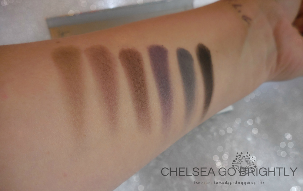 Bottom Row Swatches (L to R): Gingerbread, Toasty, Spice, Sugar Plum, Starry Night, and Coal