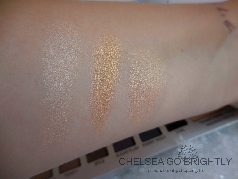 Transforming Ombre Radiance Ribbon Swatches: Left Side, Right Side, and a blend of entire shade